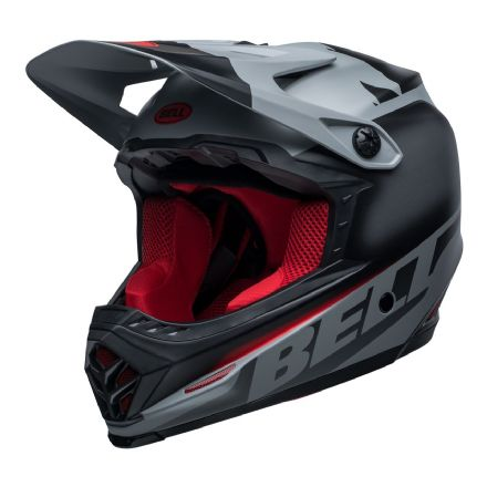Bell MX 2020 Youth Moto-9 MIPS Helmet (Glory Matte Black/Gray/Crimson)